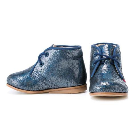 Pantofi Ortopedici din Piele Emel - Handmade albastru F2