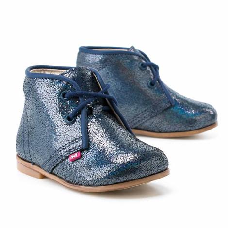Pantofi Ortopedici din Piele Emel - Handmade albastru F3