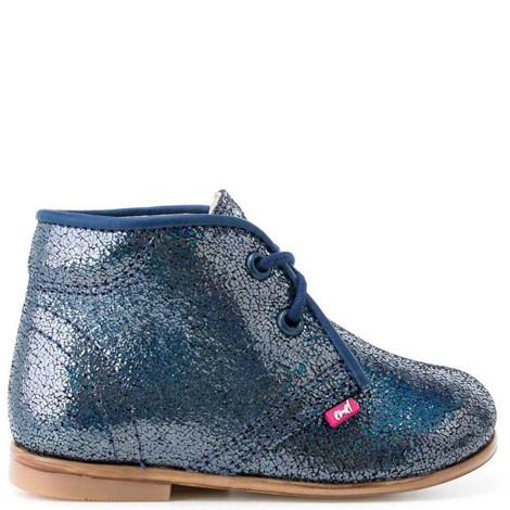 Pantofi Ortopedici din Piele Emel - Handmade albastru F4