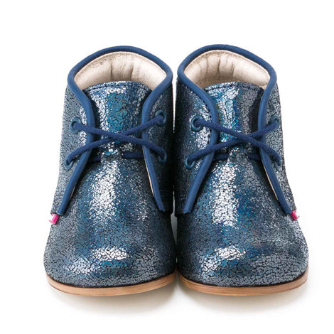 Pantofi Ortopedici din Piele Emel - Handmade albastru F5