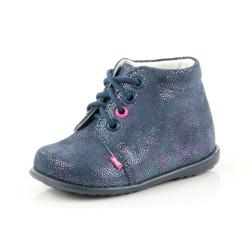 Pantofi Ortopedici din Piele Emel - Handmade bleumarin F1