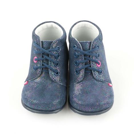 Pantofi Ortopedici din Piele Emel - Handmade bleumarin F2