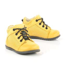 Pantofi Ortopedici din Piele Emel - Handmade galben F1