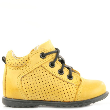 Pantofi Ortopedici din Piele Emel - Handmade galben F2
