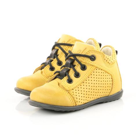 Pantofi Ortopedici din Piele Emel - Handmade galben F3