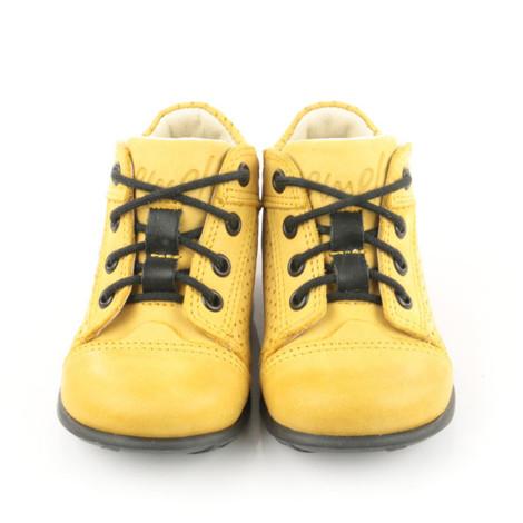 Pantofi Ortopedici din Piele Emel - Handmade galben F4
