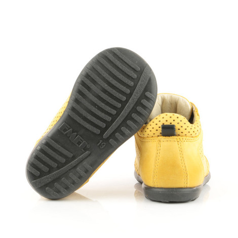Pantofi Ortopedici din Piele Emel - Handmade galben F6