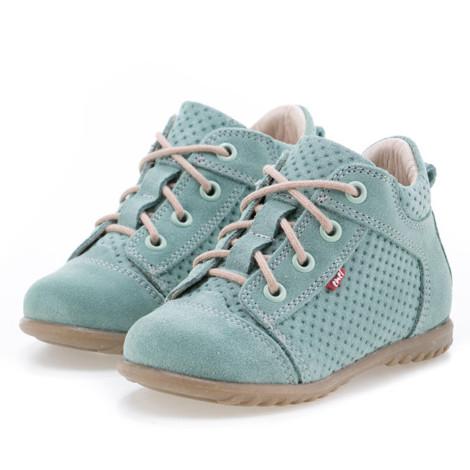 Pantofi Ortopedici din Piele Emel - Handmade verde F1