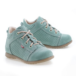 Pantofi Ortopedici din Piele Emel - Handmade verde F2