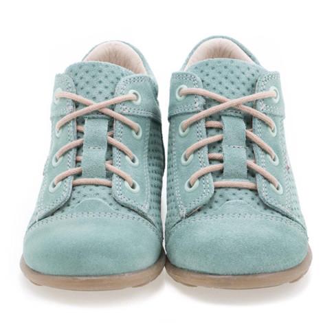 Pantofi Ortopedici din Piele Emel - Handmade verde F5