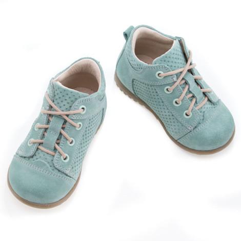 Pantofi Ortopedici din Piele Emel - Handmade verde F6