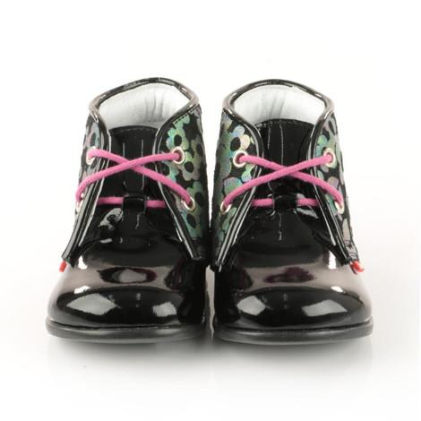 Pantofi Ortopedici din Piele Emel - Handmade negru F2