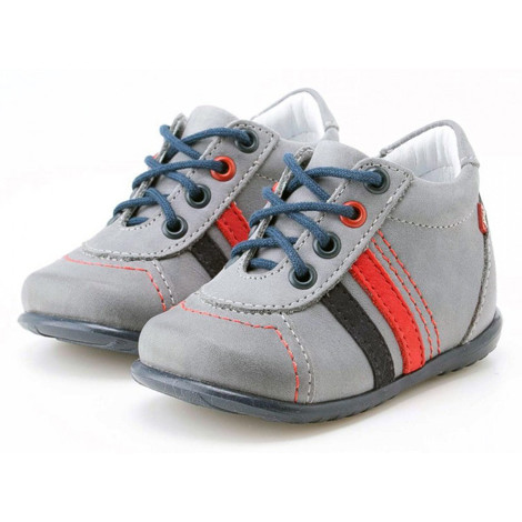 Pantofi Ortopedici din Piele Emel - Handmade gri F1
