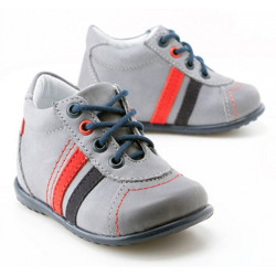 Pantofi Ortopedici din Piele Emel - Handmade gri F2