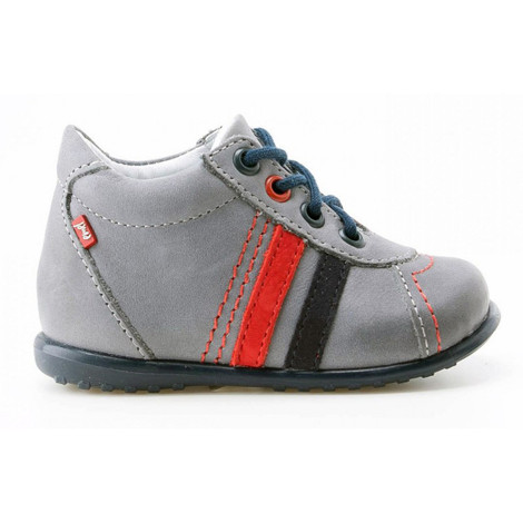 Pantofi Ortopedici din Piele Emel - Handmade gri F3