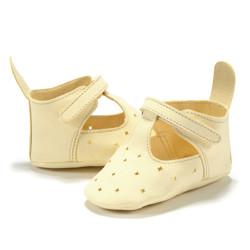Imagine Moonie's - Papucei de piele pentru bebelusi - Galben