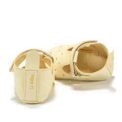 Moonie's - Papucei de piele pentru bebelusi - Galben