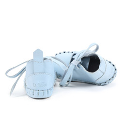 Moonie's First - Papucei de piele pentru bebelusi - Cloudy Blue