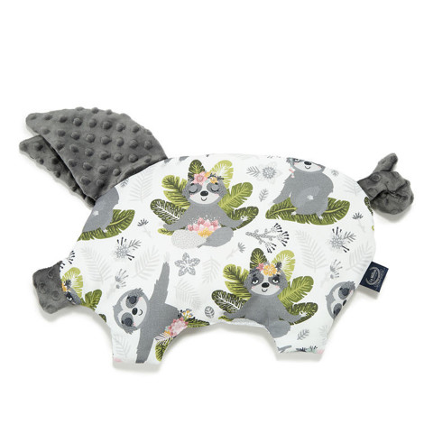 Imagine Perna Sleepy Pig Minky - Yoga Sloth Squad - Dark Grey
