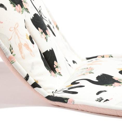 Imagine Protectie carucior Organic Jersey - Moonlight Swan - Velvet Powder Pink