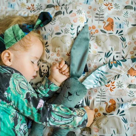 Imagine Perna Sleepy PIG Velvet - Magic Owl - Smoke Mint