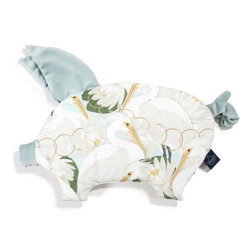 Imagine Perna Sleepy PIG Velvet - Heron in a cream Lotus - Smoke Mint