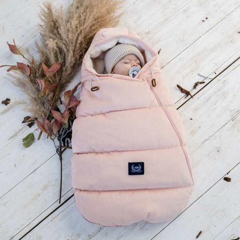 Imagine Sac pentru carucior Aspen BABY - Waterproof - Velvet collection - Powder Pink