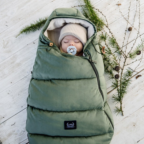 Imagine Sac pentru carucior Aspen BABY - Waterproof - Velvet collection - Khaki