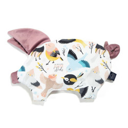 Imagine Perna Sleepy PIG Velvet - Cute birds - French Lavender