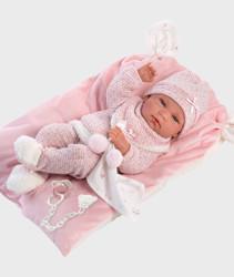 Imagine Papusa NICA, cu paturica roz pufoasa