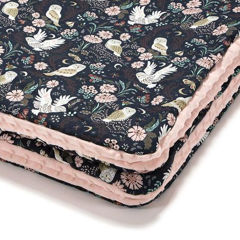 Imagine Patura  Toddler 110x140 Minky - Magic Owl - Powder pink