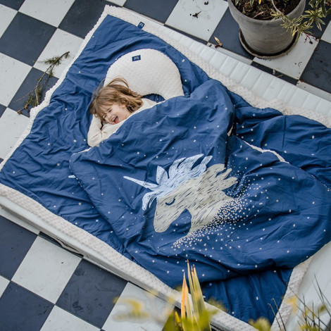 Imagine Patura  Toddler 110x140 Minky - Universe of Unicorn - Ecru