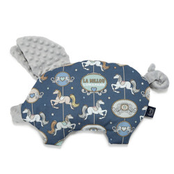 Imagine Perna Sleepy Pig Minky - Lunapark by night - Light grey