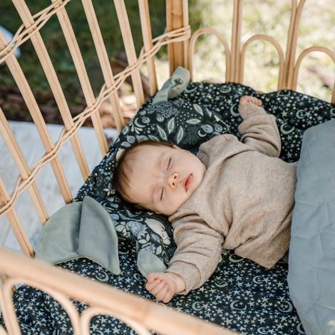 Imagine Perna Sleepy Pig Minky - Lunapark by night - Light grey