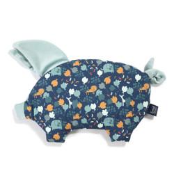 Imagine Perna Sleepy PIG Velvet - French blue jardin - Smoke mint