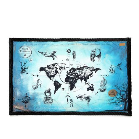 Imagine Patura World Orchestra - True Turquoise Vintage Map - Black