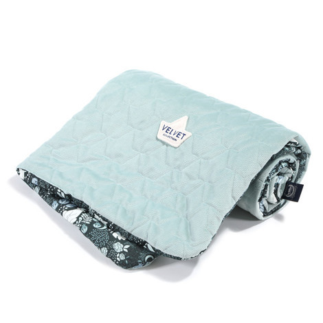 Imagine Patura  Toddler 80x100 Velvet Collection - It`s magic - Smoke mint