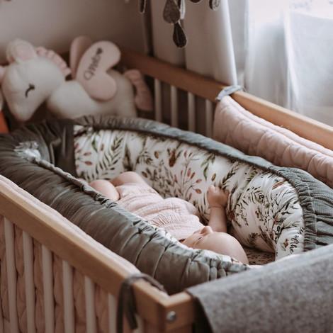 Imagine Baby Nest Velvet - French Rose Jardin - Papaya